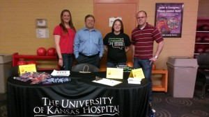 l-r: University of KS Medical Team: Jessica Stine, Dr. Mehrdad Maz, Bethany Crum, Dr. Jason Springer