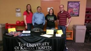 l-r: University of KS Medical Team: Jessica Stine, Dr. Mehrdad Maz, Bethany Crum, Dr. Jason Springer