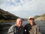 Pete and James with the Kariba wall in the background