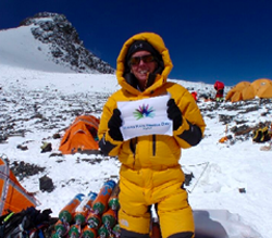 Cindy Abbott, a Wegener's patient, summits Mt. Everest, 2010.