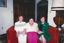 Marilyn Sampson (center) with Connie Barnett (left) and Fern Thompson (right).