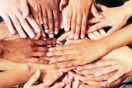 http://www.dreamstime.com/stock-photography-many-hands-together-group-people-joining-hands-image19391482